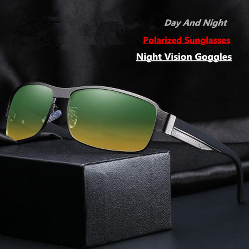 Driver Goggles Day And Night Driving Glasses Fashion Vintage Polarized Night Vision Goggles Anti-glaring Anti-UV Auto Glasses