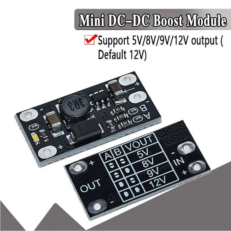 1.5A Multi-function Mini Boost Module Step Up Board 5V 8V 9V 12V LED Indicator Diy Voltage Module 3.7V Lithium Battery Boost