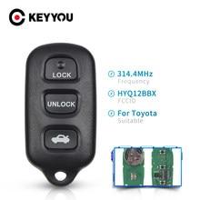 KEYYOU – clé télécommande 3 + 1 boutons, pour Toyota 4Runner Camry Corolla Prius RAV4 SC300 Scion xB Pontiac Vibe