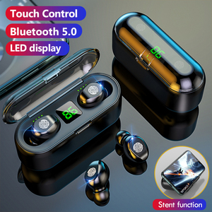 TWS F9 Wireless Bluetooth Headphone Stereo Sport Wireless Earphones Touch Bluetooth 5.0 Mini Earbud Bass Headset with 2000mAh