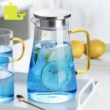 1.5L 2.0 LCold Glass Water Bottle Jar Kettle Transparent Lar