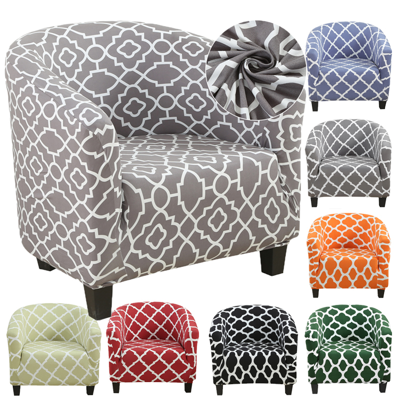 Tub Chair Covers Armchair Slipcovers Stretch Single Seater Sofa Seat Cover Home