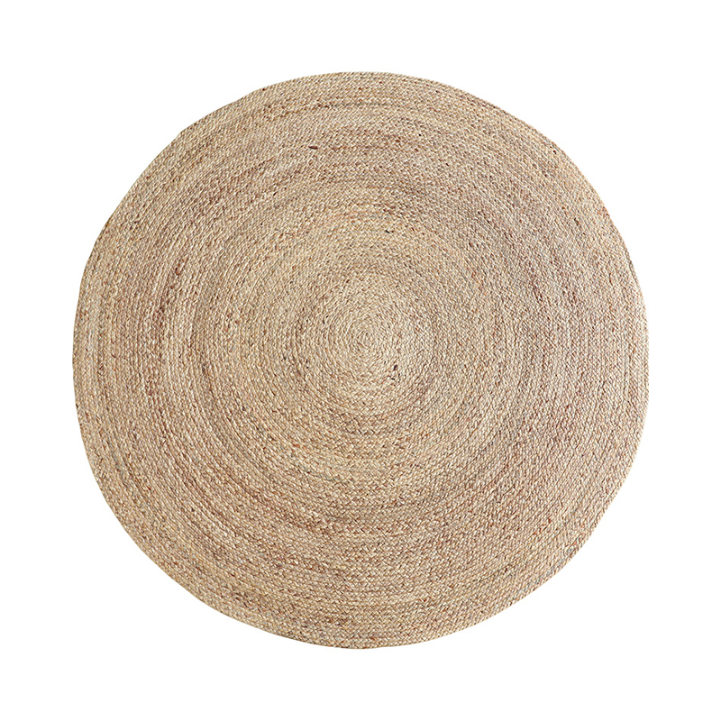 Handmade Round Carpet Jute Japanese Style Living Room Coffee Table Area Rug Bedside Blanket Baby Children Play Mat Summer Tapete