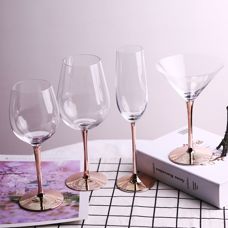 Modern Crystal Wine Glass Plated Rose Gold Goblet Wedding Champagne Cocktail Cup Party Bar Glassware Wine Glasses Aliexpress