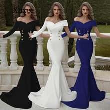Женское вечернее платье Русалка с открытыми плечами длинное