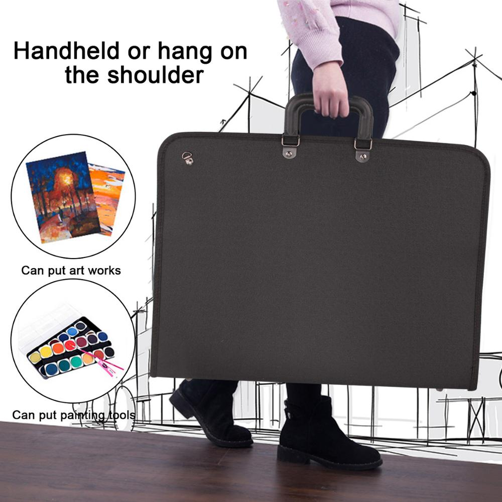 37 X 48cm Art Portfolio Expanding Folder File Organizer Carry Case Bag For Artwork Drawing Painting Sketch Photography Poster