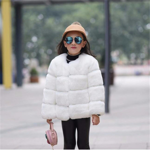 Image 3 - Girls Fur Jacket for Children Tops Clothes 2020 New Baby Kids Jackets Warm Thicken Coat Solid Color Boys Faux Fur Outwear Coat