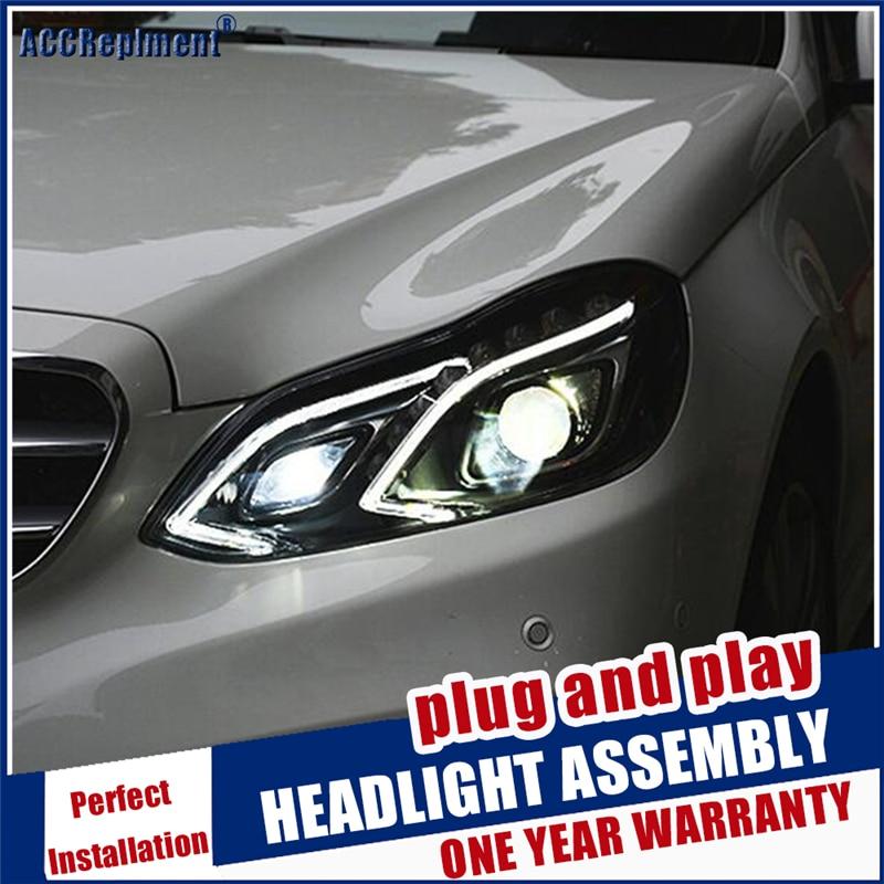 Estilo do carro para w212 lâmpada de cabeça led para benz e180 e200 e260 e300 led farol 2014 2015 para e class led drl hid bi xenon lente - 3