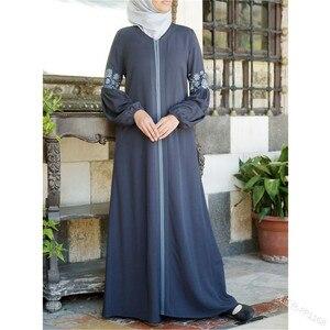 Image 2 - Dubai Abaya Turkse Bangladesh Vrouw Abaya Jilbab Femme Musulman Moslim Jurk Abaya Islamitische Kleding Caftan Marocain Kaftan
