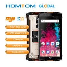 """מקורי Homtom Zoji z11 נייד טלפון IP68 5.99 """"MTK6750T אוקטה core 4GB 64GB 10000mAh אנדרואיד 8.1 פנים נעילה"""