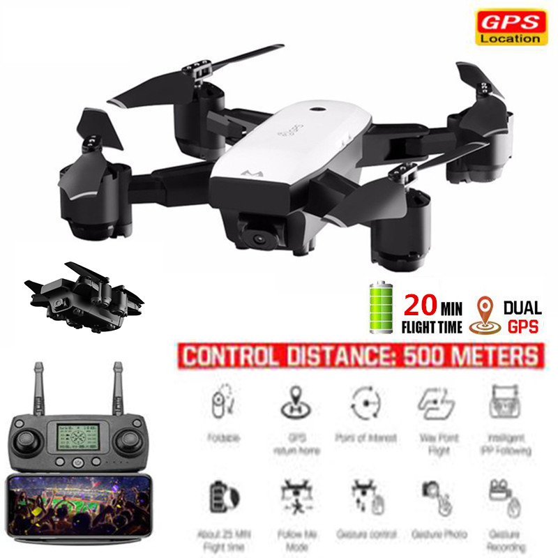 New FPV GPS RC Drone With Live Video And Return Home Foldable RC With HD Camera Quadrocopter Return Home Foldable