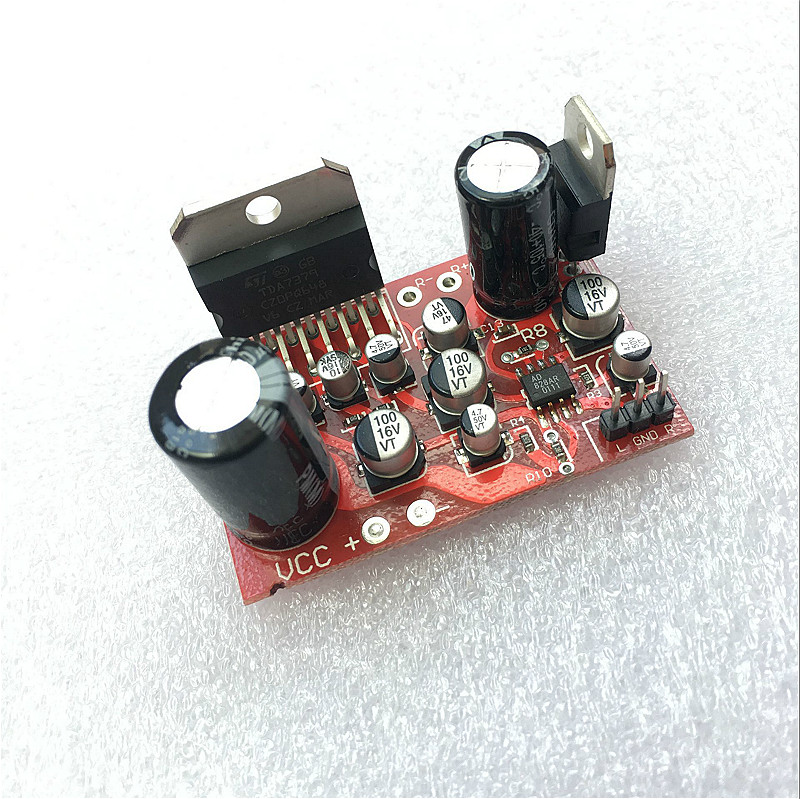 DC 12V <font><b>TDA7379</b></font> 38W+38W Stereo <font><b>Amplifier</b></font> Board w/AD828 Preamp Super Than NE5532 <font><b>Amplifiers</b></font> Boards Integrated Circuits image