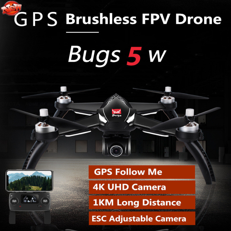 Profesisonal GPS Racing RC Drone B5W Bugs 5 5W 5G GPS Follow Me 1KM 4K WIFI Camera FPV RC Quadcopter Brushless Helicopter Model