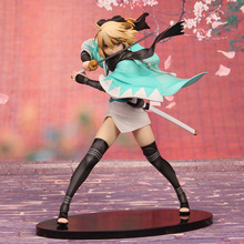 Anime Game Fate Grand Order Toys Figuras Okita Souji Model 25CM Cherry Blossom Saber PVC Action Figure Collection Model Doll Toy цены