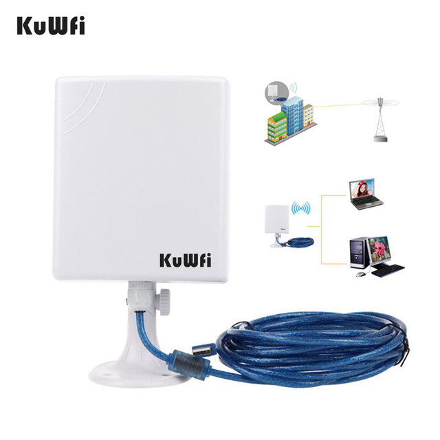 2.4G WiFi USB Adapter 150Mbps Long Distance Wifi Antenna High Power Wireless Network Card Desktop Wifi Receiver With 5m Cable