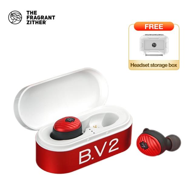 TFZ/ B.V2 TWS Ture Drahtlose Kopfhörer Bluetooth 5,0 Mit Lade Fall, 3D Stereo Sound Kopfhörer mit Dual Mikrofon