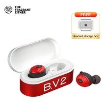 TFZ/ B.V2 TWS gerçek kablosuz kulaklık Bluetooth 5.0 ile şarj durumda, 3D Stereo ses kulaklık ile çift mikrofon