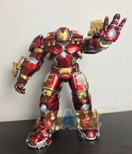 Avengers Iron Man Toy MK44 1/12 Scale Action Figure Alloy Led Hulkbuster Model Marvel Iron Man Fgure Toys Collection In Box