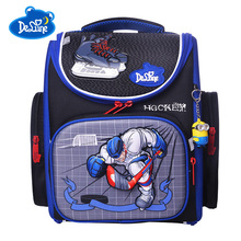 цены Delune Kids School Bag Children High Quality 3D Cartoon School Bags Boys Girls Students Kids Travel Orthopedic Satchel