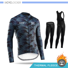 Northwave Winter Cycling Clothing Thermal Fleece Pro Team NW Ropa Ciclismo Men Jersey Suit Riding Bike MTB Shirts Bib Pant Set nw 2018 team pro cycling team jersey winter thermal fleece racing sport bicycle clothing ropa ciclismo mountain