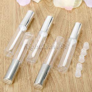 Image 2 - Botella de Envase Cosmético Vacío para labios, 5 uds., 10ml, tubo de viaje brillante, envases de Vacío claro para labios, maquillaje