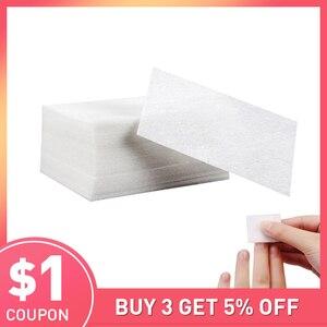 Image 1 - 900Pcs/set Lint Free Nail Napkins Nail Remover Wraps Manicure Gel Nail Polish Remover Wipes gel nagellak remover Lint Free Wipes