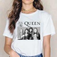 Vintage the queen band shirt women tshirt Freddie Mercury t shirt femme hip hop rock streetwear gothic tops female t-shirt tees