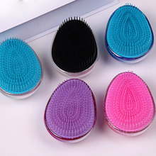 White Egg Shape Hair Brush Anti Static Detangling Knots Hair Comb Detangler Brush Air Cushion Massage Brush For Women