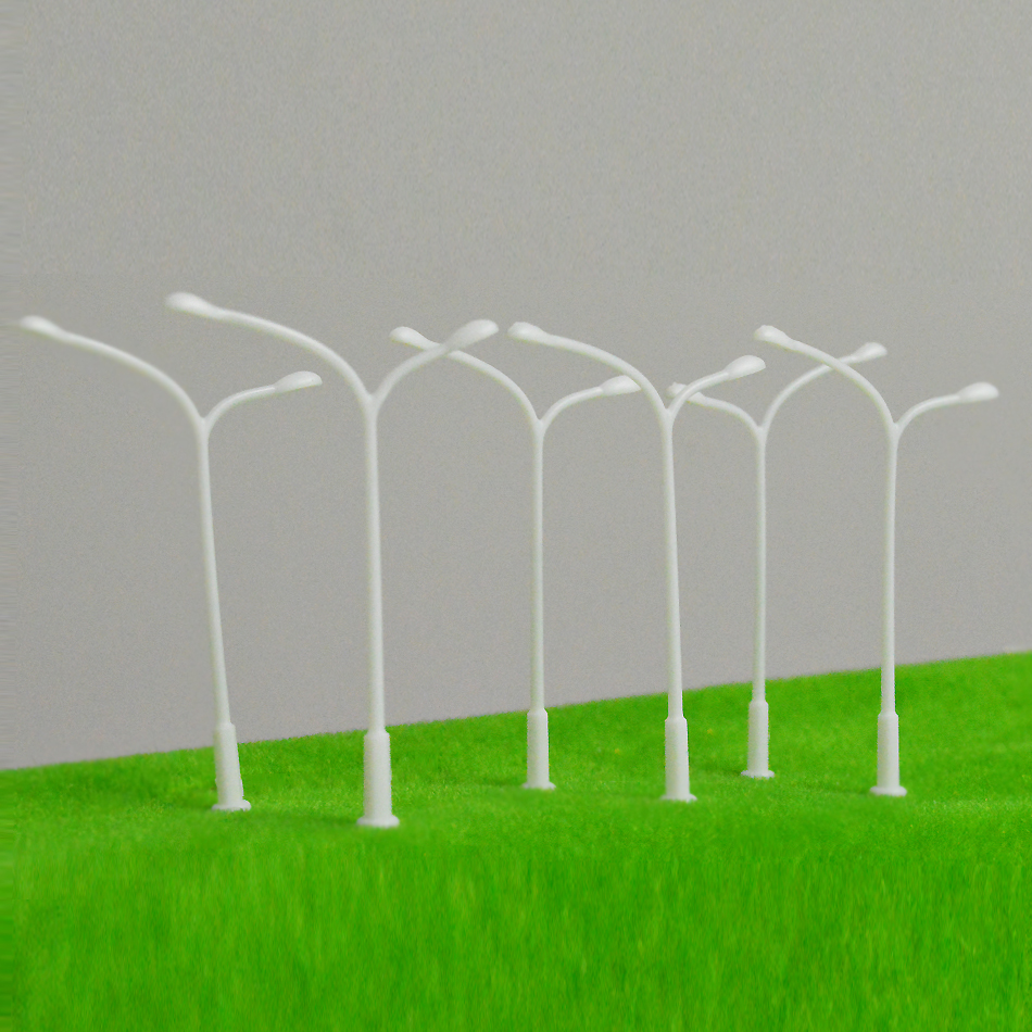 100pcs 1 300 Diorama Scenery Train Layout Architectural Model Road Lamp White Lamppost Unlight Miniature Model Scale Garden Lamp in Model Building Kits from Toys Hobbies
