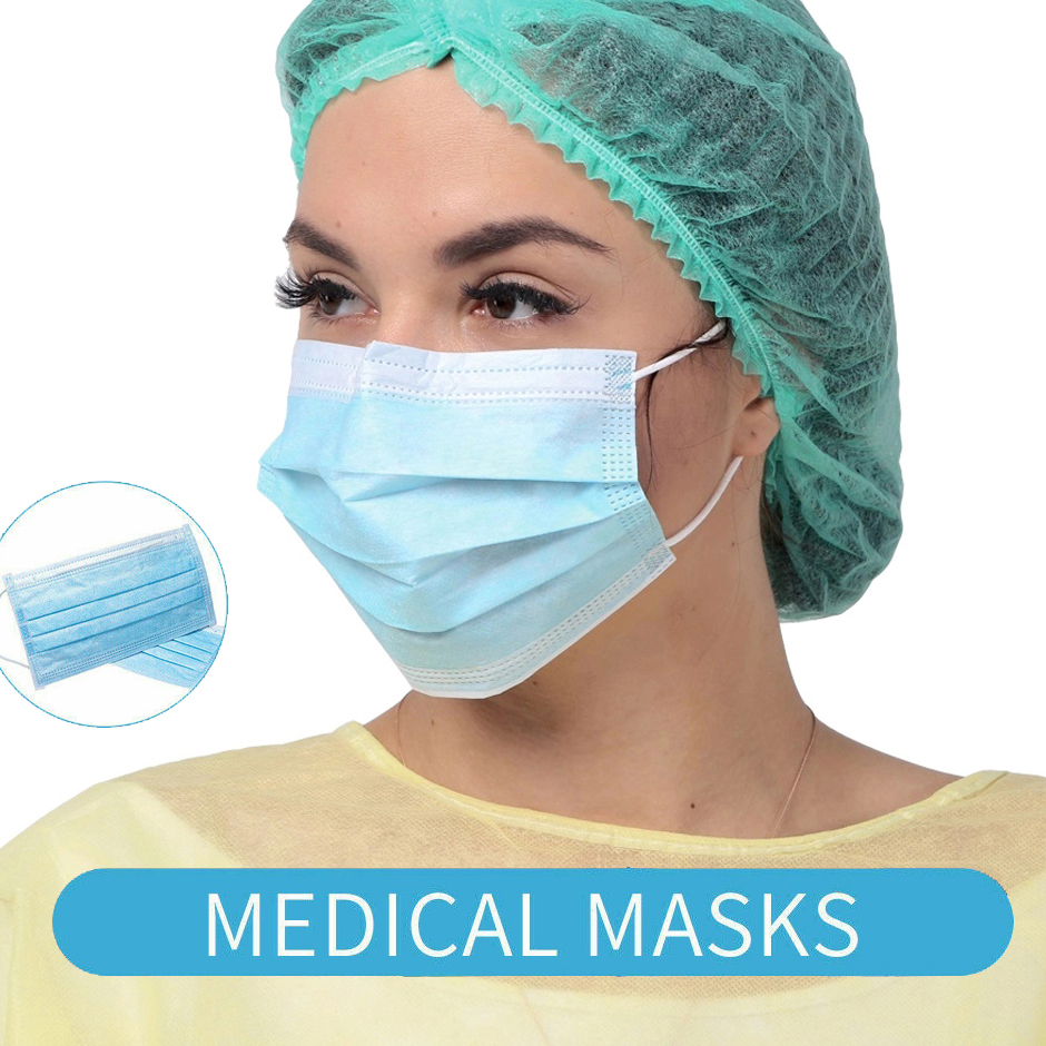 Image 2 - 50Pcs Disposable Medical Masks Anti flu PM2.5 Protective Face  Mouth Masks Anti nCoV Influenza Bacterial Facial Dust Proof Safety  -