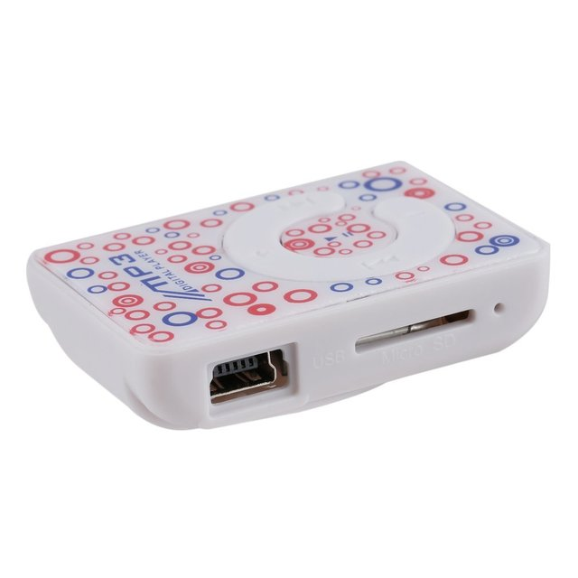 Mini lecteur portatif de médias de musique dusb MP3 dagrafe de taille avec le Support de fente de carte de TF 1-8GB lecteur de musique cadeau danniversaire couleur aléatoire