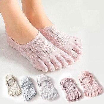 цена на 5 pairs носки женские women socks no show socks non slip women five finger toe socks womens socks invisible socks boat socks