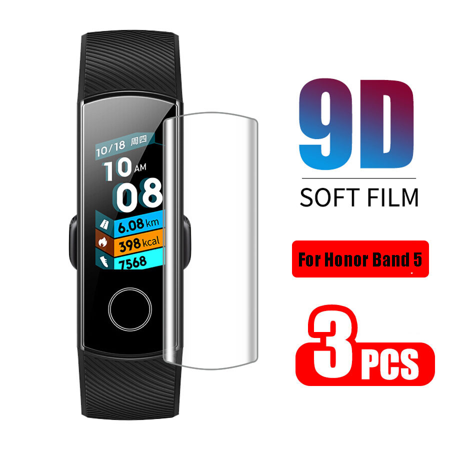 3pcs/lot Full Screen Protector For Huawei Honor Band 4 5 Protective Film On The Honor Band4 Band5 Soft Film Not Tempered Glass