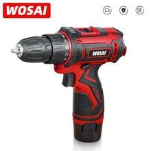 WOSAI Perceuse visseuse électrique 12V max, mini appareil à visser avec batterie lithium-ion 3/8 pouce CC et 2 vitesses