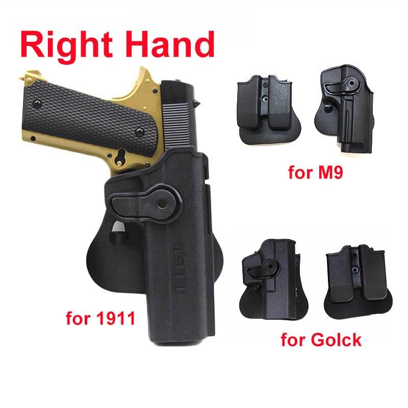Imi militar arma coldre para glock 17 19 beretta m9 colt 1911 airsoft cintura pá cinto coldre pistola caso para caça tiro