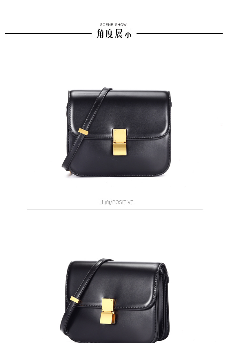 AKAKCOCO Women Bag 2019 New Fashion Handbag Fashion Stewardess Bag Shoulder Slanted Tofu Bag Small Square Bag