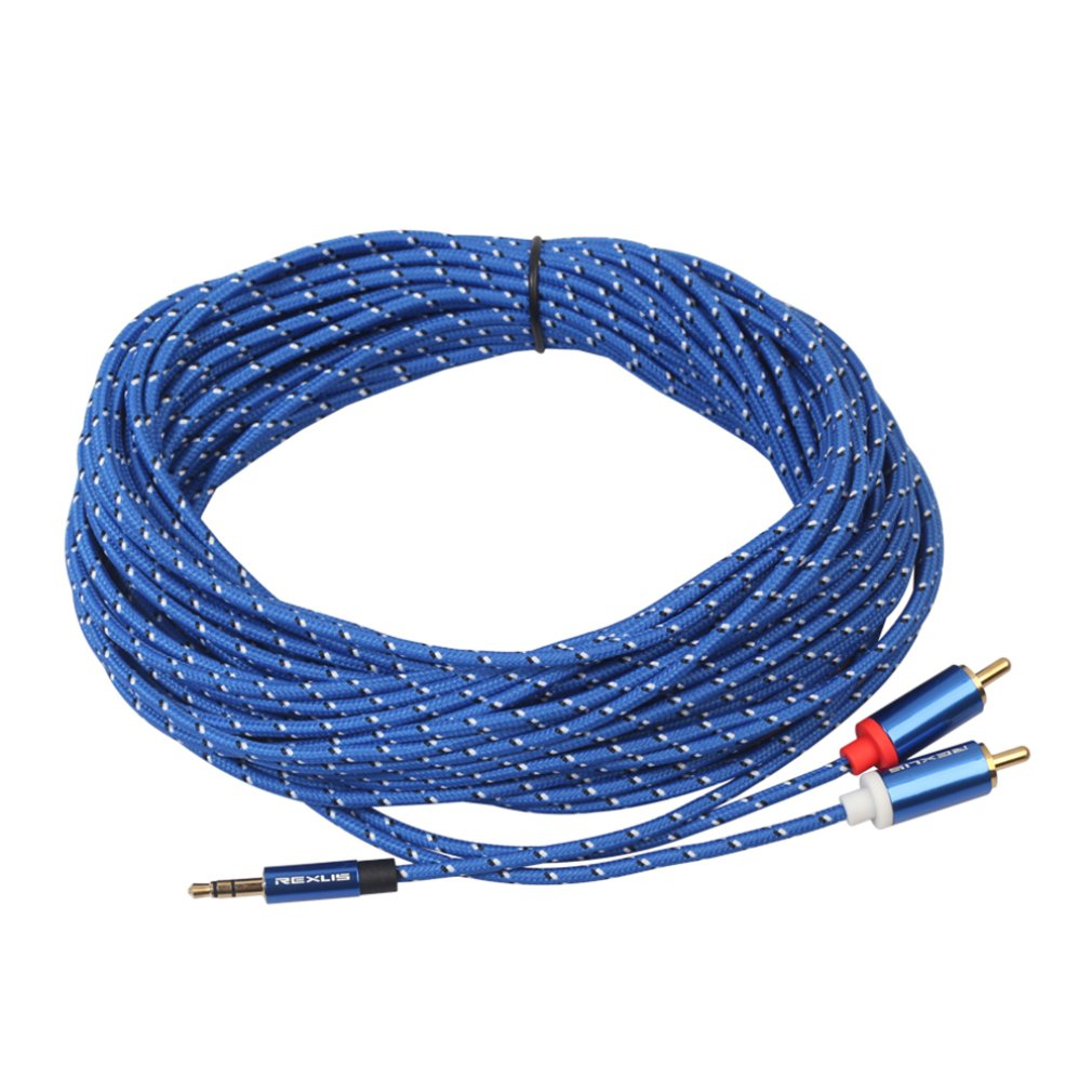 2 RCA to 2 RCA Stereo Audio Cable Cord Male-Male 2//4//8//15M For Home Theater