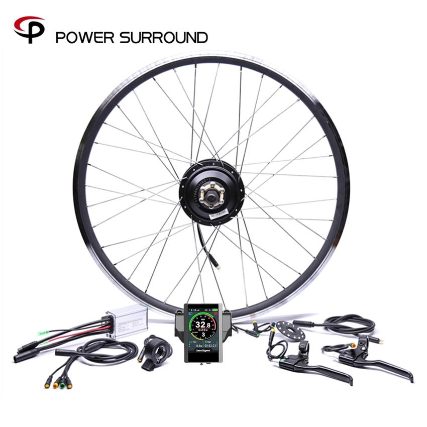 Waterproof Color display 48v500w Bafang Rear Cassette Electric Bike Conversion Kit Brushless Hub Motors 20'' 26'' 28''Wheel|Electric Bicycle Motor| |  - title=