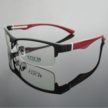Vazrobe ماركة TR90 النظارات الإطار الرجال شبه بدون إطار العين إطارات النظارات للذكور وصفة طبية عدسة قصر النظر الديوبتر نظارات رجل