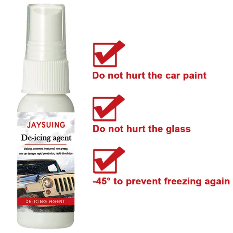 Car Glass De-icing Agent Spray Melting Snow Ice Anti-Icing Winter Window De-icing Agent For Car Finish Auto Accesories