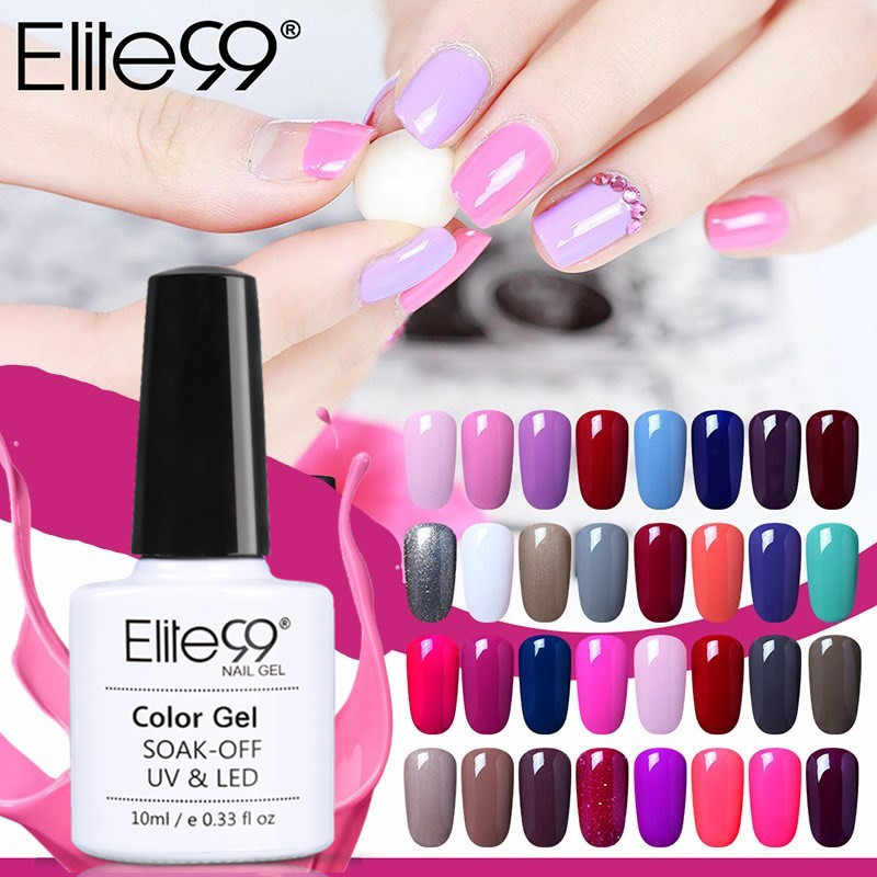 Elite99 10ML blanco negro rojo esmalte de uñas de Gel uv LED lámpara Gel laca Gel polaco colores puros Gel barniz Base para uñas Base superior