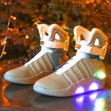 Обувь для взрослых с USB зарядкой, светящаяся обувь для мужчин, модный светильник, повседневные мужские кроссовки с подсветкой, бесплатная до...