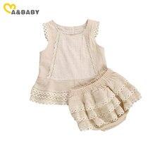 Женский летний комплект одежды Ma & Baby, летний кружевной жилет с оборками, футболка и верх