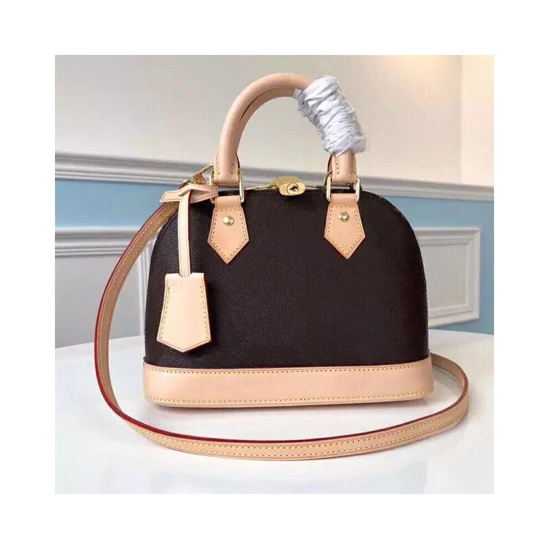 Новейшая мода 2020, женские брендовые сумки, Высококачественная сумка из натуральной кожи, Женская Роскошная Наплечная Сумка ALMA, поставляется с сумкой от пыли|Сумки с ручками|   | АлиЭкспресс