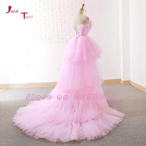 Image 3 - Jark Tozr תפור לפי מידה גבוהה נמוך שמלות נשף Vestido דה Festa  סין ורוד פורמליות שמלות Ballkleider