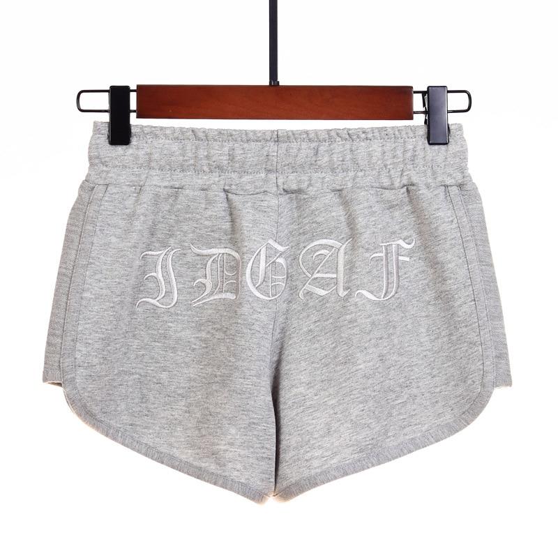 Summer Gray Shorts Women Plus Size Black Elastic High Waist Bandage Solid Running Sports Wide Leg Pantalones Cortos De Mujer 4XL
