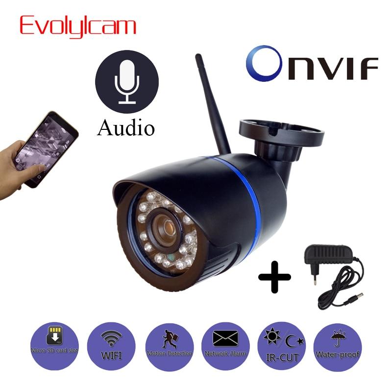 Evolylcam P2P 2MP de Áudio HD 1080P Câmera IP Sem Fio WiFi Onvif CCTV Segurança Vigilância Com cartão Micro SD/TF slot Para cartão CamHi Cam