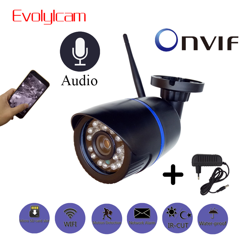 HD 1080P IP Camera Outdoor WiFi Home Security Camera 720P 2MP Wireless Surveillance Wi Fi SD TF Waterproof IP Onvif Camara Cam-in Surveillance Cameras from Security & Protection