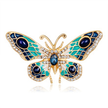 Japan and South Korea hot personality drip color Butterfly brooch fashion animal corsage clothing accessories spot batch