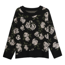 Rose Floral Women Sweater and Pullovers Autumn Win